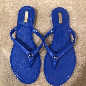 Blue Aldo Flip Flops